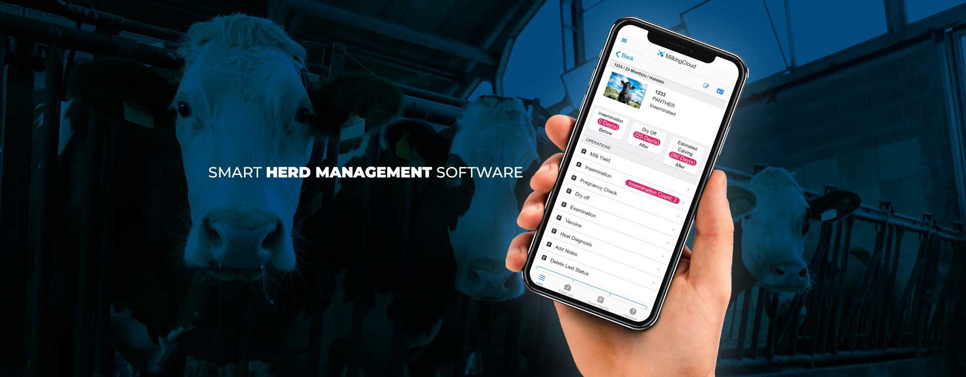 AN EASY-TO-USE HERD MANAGEMENT SOFTWARE FOR FARMS OF ANY SIZE
